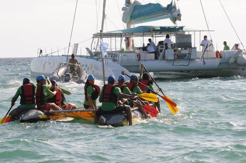 Sea Raft team building and catamaran in Palma de Majorca
