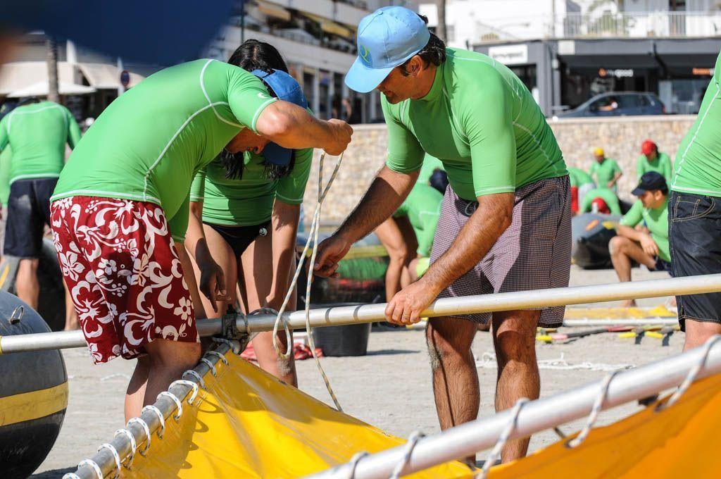 Sea Raft team building activity for corporate groups in Palma de Mallorca