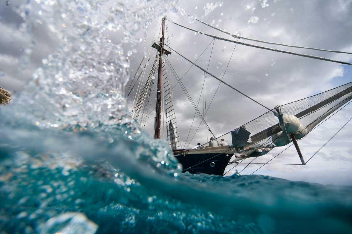 historic wooden sailing yacht mallorca